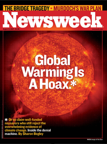Newsweek cover global warming is a hoax