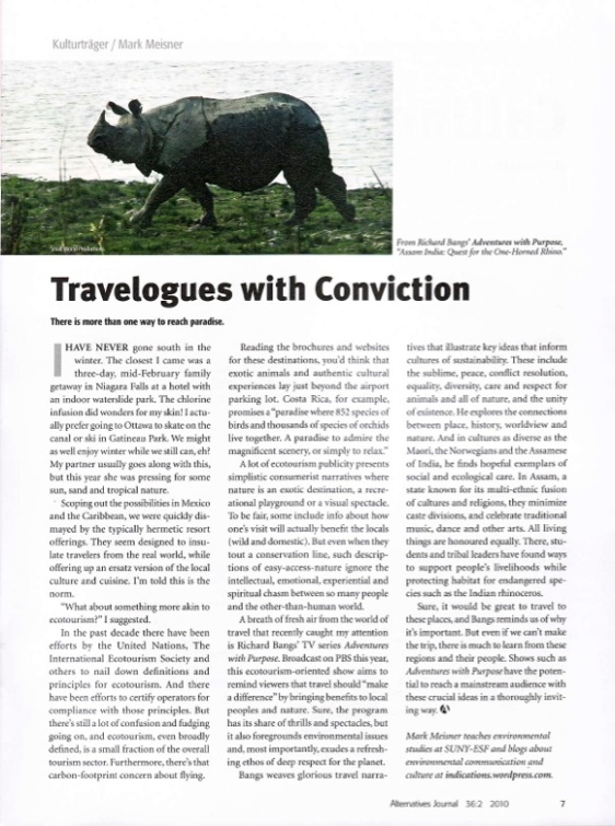 Kulturtrager #2 Travelogues with Conviction