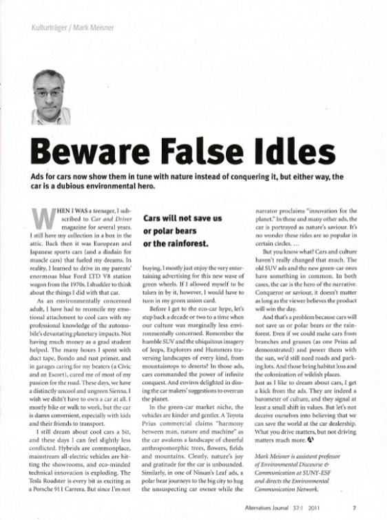 Kulturtrager #5 Beware False Idles