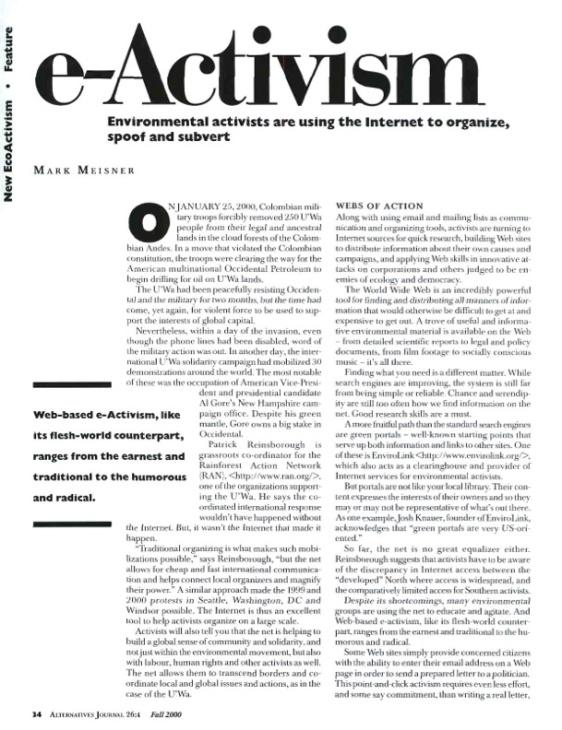 Meisner_e-Activism