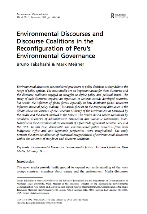 Takahashi and Meisner-Environmental Discourses