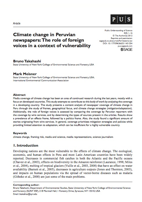 Takahashi & Meisner-Climate Change in Peruvian Newspapers