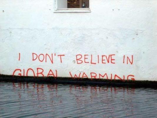 banksyidontbelieveinglobalwarming