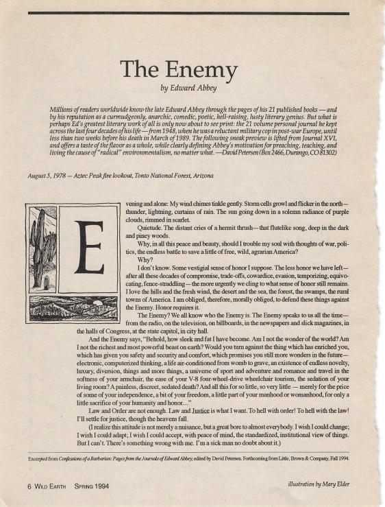 Edward Abbey - The Enemy